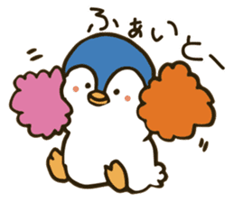 Girl and penguin sticker #1620627