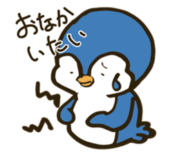 Girl and penguin sticker #1620631