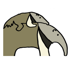 Giant anteaters and ants