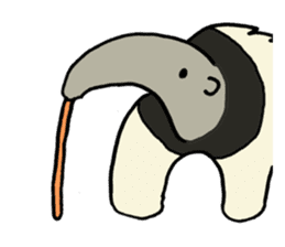 Giant anteaters and ants sticker #1623053