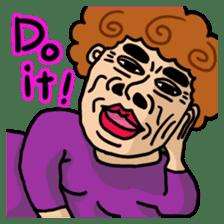 The purple auntie (English version) sticker #1623473