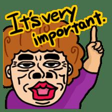 The purple auntie (English version) sticker #1623477