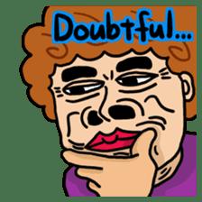 The purple auntie (English version) sticker #1623479