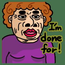 The purple auntie (English version) sticker #1623485