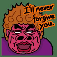 The purple auntie (English version) sticker #1623488