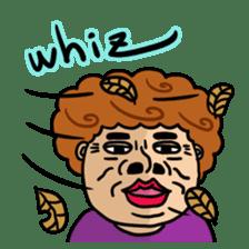 The purple auntie (English version) sticker #1623502