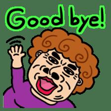 The purple auntie (English version) sticker #1623508
