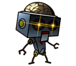 HALF ROBOT sticker #1625714