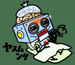 HALF ROBOT sticker #1625722