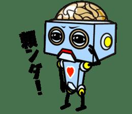HALF ROBOT sticker #1625723