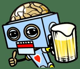 HALF ROBOT sticker #1625728