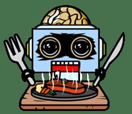 HALF ROBOT sticker #1625729