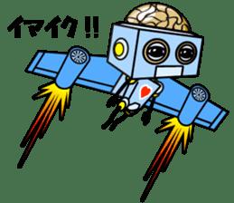 HALF ROBOT sticker #1625730