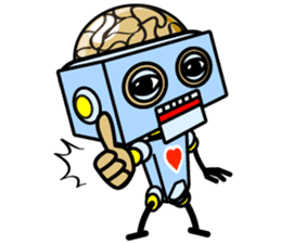 HALF ROBOT sticker #1625731