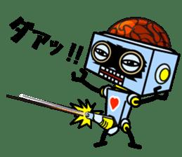 HALF ROBOT sticker #1625733