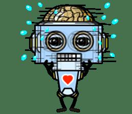 HALF ROBOT sticker #1625734