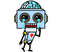 HALF ROBOT sticker #1625736