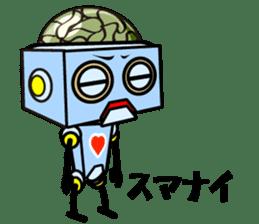 HALF ROBOT sticker #1625737