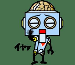 HALF ROBOT sticker #1625746