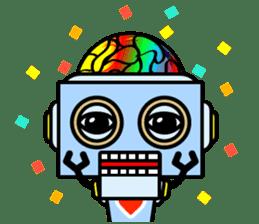 HALF ROBOT sticker #1625747