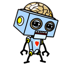 HALF ROBOT sticker #1625749