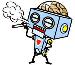 HALF ROBOT sticker #1625752