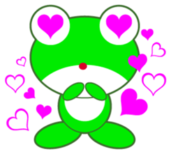 pretty frogs -Green version- sticker #1625759