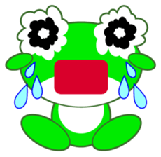 pretty frogs -Green version- sticker #1625765