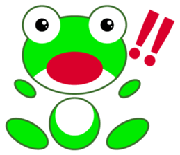 pretty frogs -Green version- sticker #1625766