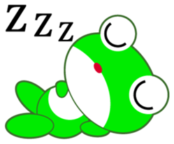 pretty frogs -Green version- sticker #1625772