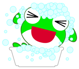 pretty frogs -Green version- sticker #1625789