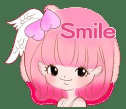 Pink!Peach girl sticker #1627073