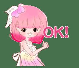 Pink!Peach girl sticker #1627074
