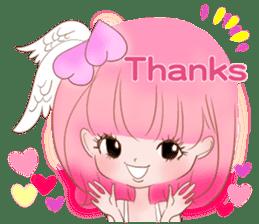 Pink!Peach girl sticker #1627076