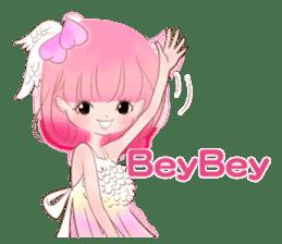 Pink!Peach girl sticker #1627079