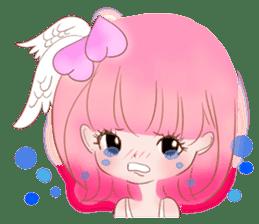 Pink!Peach girl sticker #1627080