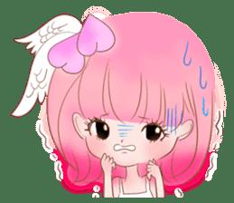 Pink!Peach girl sticker #1627085