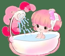 Pink!Peach girl sticker #1627087