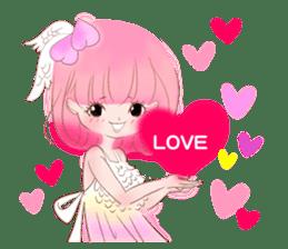 Pink!Peach girl sticker #1627090