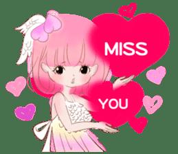 Pink!Peach girl sticker #1627092