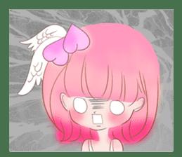 Pink!Peach girl sticker #1627093