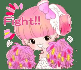 Pink!Peach girl sticker #1627095