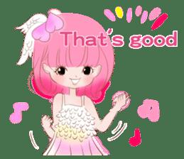 Pink!Peach girl sticker #1627099