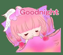 Pink!Peach girl sticker #1627101