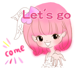 Pink!Peach girl sticker #1627106