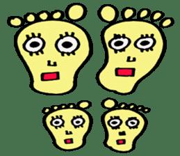 cute foot sticker #1630217