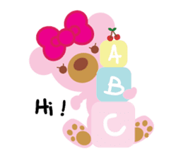 Melody the Pink Bear sticker #1637369