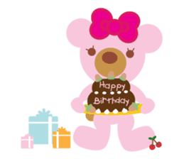 Melody the Pink Bear sticker #1637370