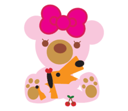 Melody the Pink Bear sticker #1637371