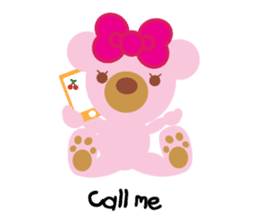 Melody the Pink Bear sticker #1637373